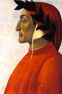 Dante Aligheri, crowned with the poet's laurel