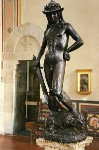 The David, Donatello's most famous statue